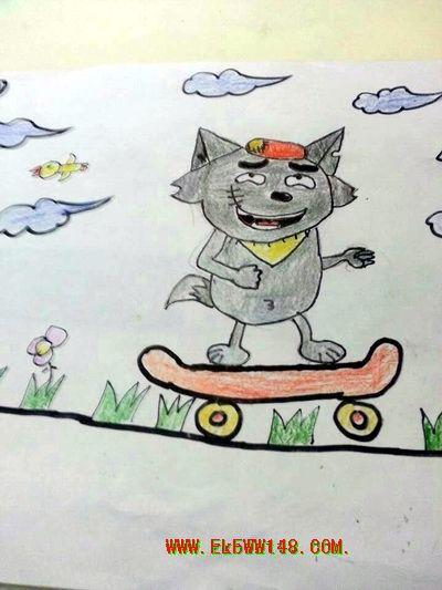 一年级美术 我在空中飞 学生作品展示